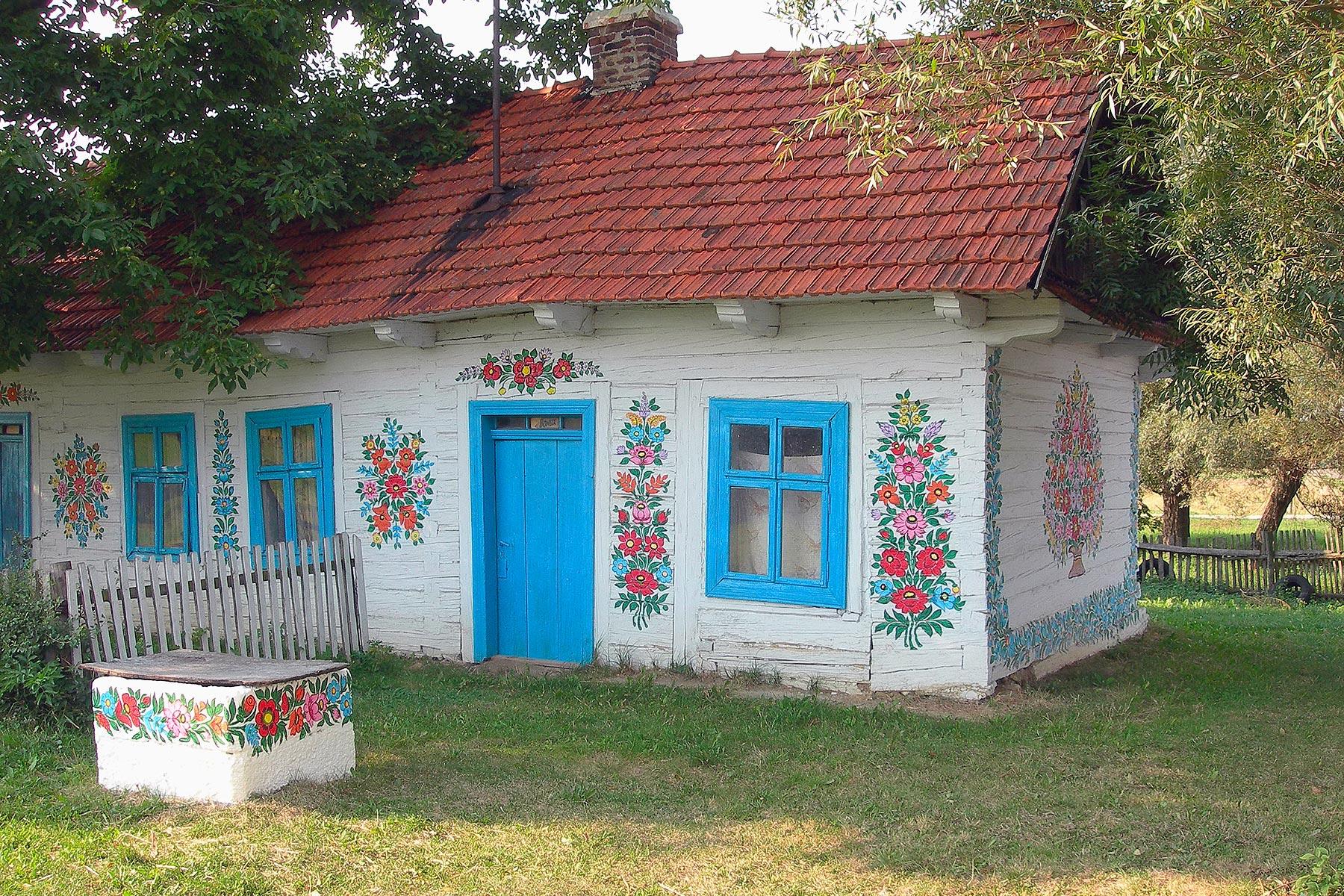 Le case dipinte di Zalipie