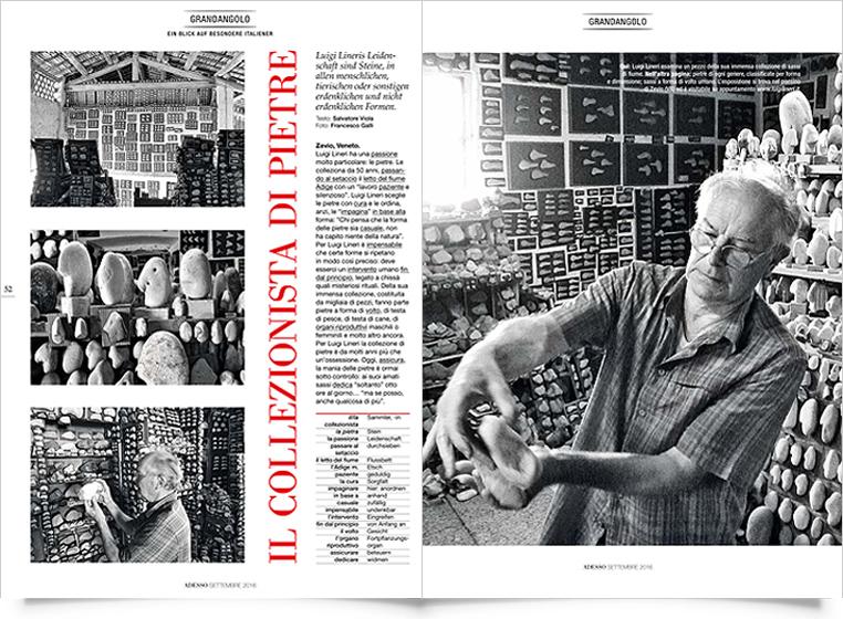 Magazine Adesso - Articolo Il collezionista di pietre