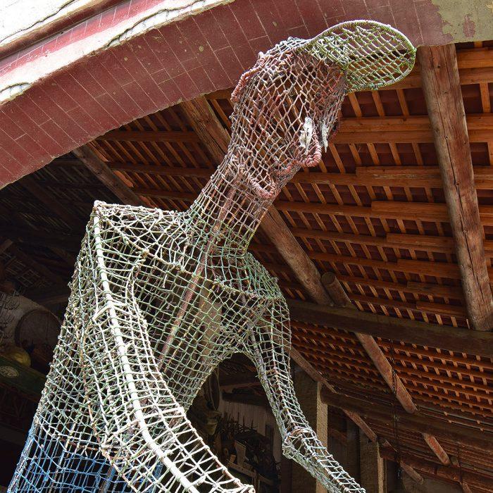 Museo Guatelli - Il ciclista dello scultore Pietro Miodini, donato al Museo