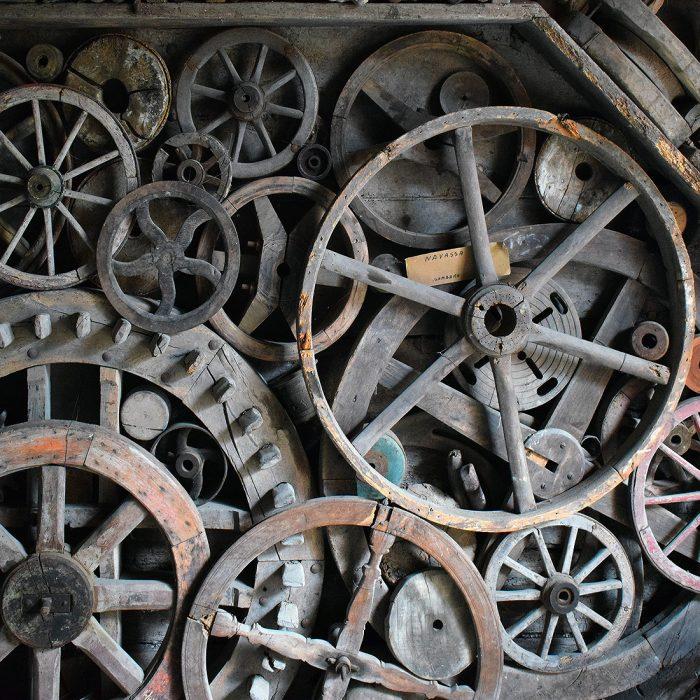 Museo Guatelli - Ruote di un carro agricolo